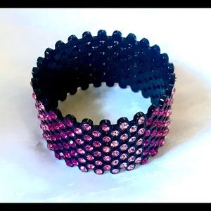 Stunning Pink Swarovski Crystal Cuff Bracelet